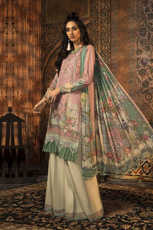Maria. B Winter Collection Embroidered karandi Unstitched 3 Piece Suit M.Prints - MPT-914-B - zapple.pk