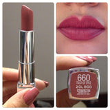 Maybelline Color Sensational Creamy Mattes Lipstick - 660 Touch of Spice - zapple.pk