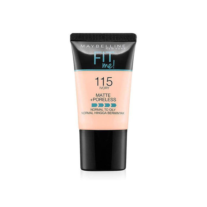 Maybelline Fit Me Liquid Foundation Matte & Poreless Tube18ml - 115 Ivory