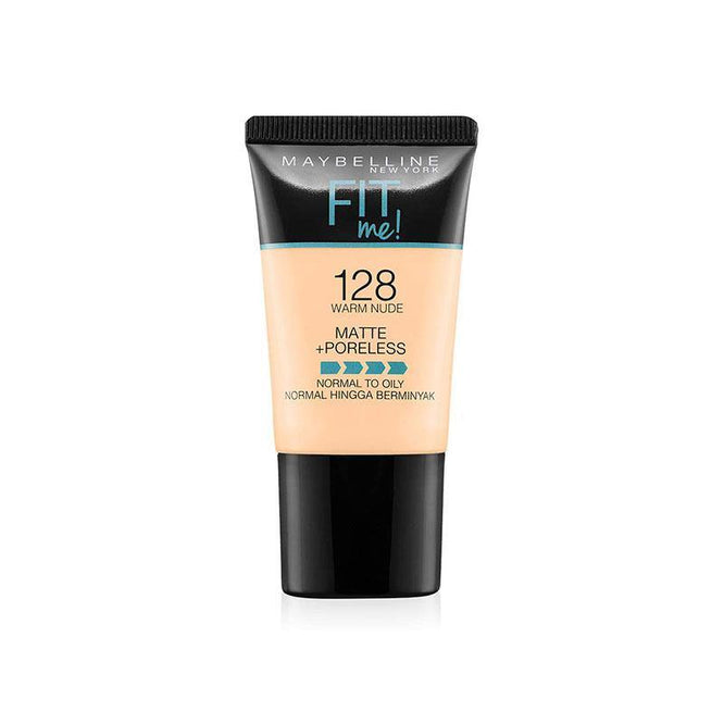 Maybelline Fit Me Liquid Foundation Matte & Poreless Tube18ml - 128 Warm Nude