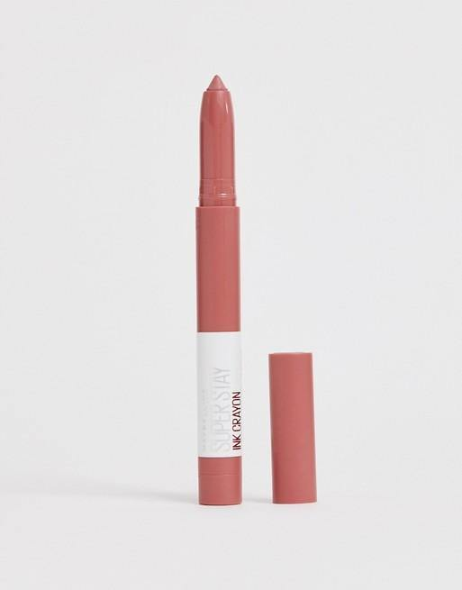 Maybelline Superstay Ink Crayon Lipstick - 10 Trust Your Gut - zapple.pk