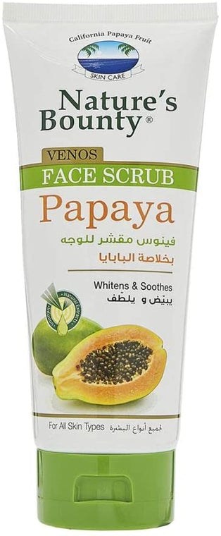 Nature's Bounty Venos Papaya Face Scrub Tube - 200ml - zapple.pk