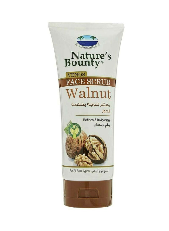 Nature's Bounty Venos Walnut Face Scrub Tube - 200ml - zapple.pk
