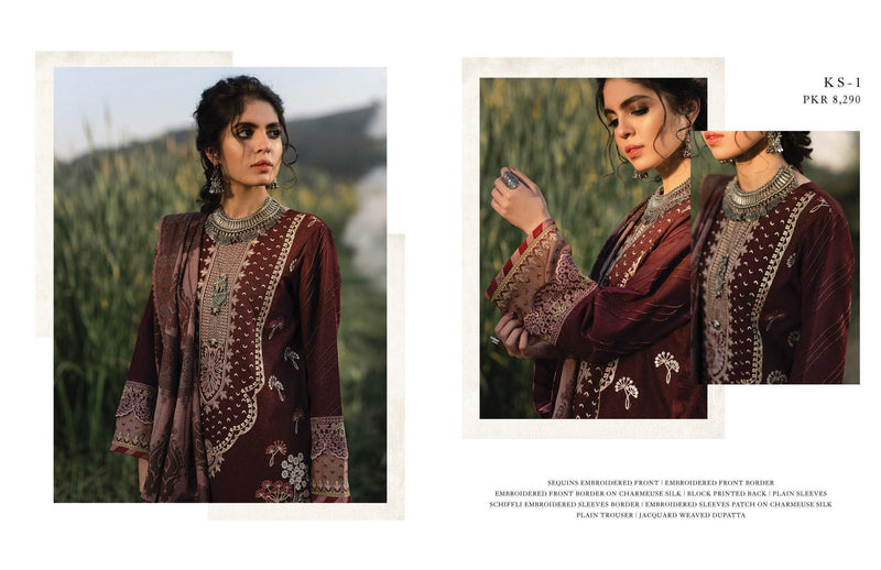 Qalamkar Luxury Shawl Winter Collection'20 Unstitched 3PC Suit - KS-01 - zapple.pk