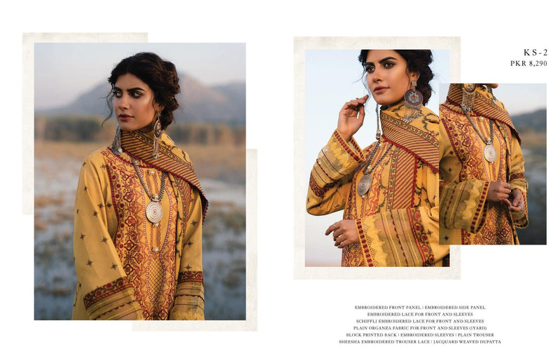 Qalamkar Luxury Shawl Winter Collection'20 Unstitched 3PC Suit - KS-02 - zapple.pk