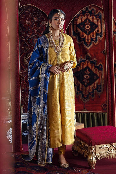 Razia Sultana by Cross Stitch Embroidered Jacquard 3 Piece Suit - MUMTAZ MAHAL-A 15 - zapple.pk