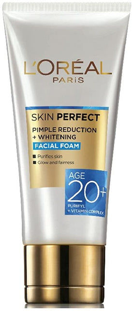 L'ORÉAL Paris Skin Perfect 20+ Pimple Reduction + Whitening Facewash - 50ml - zapple.pk