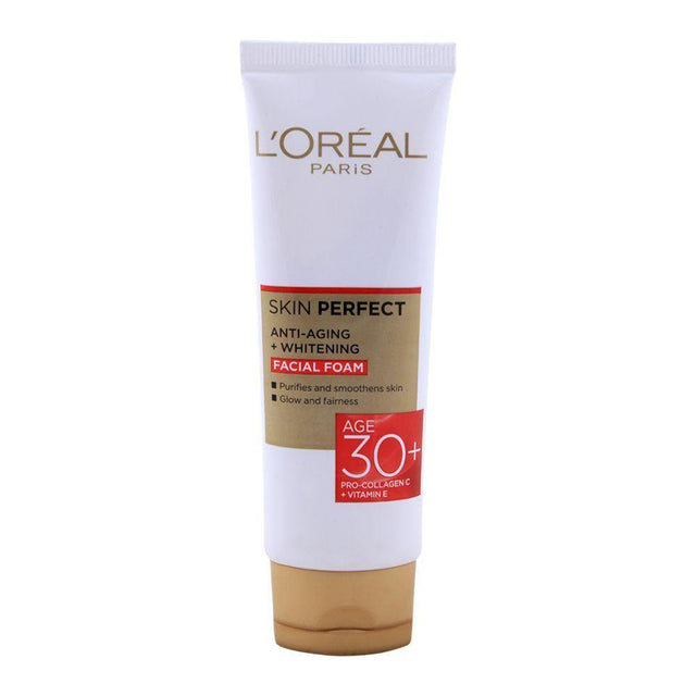 L'ORÉAL Paris Skin Perfect 30+ Anti-Aging + Whitening Facewash - 50ml - zapple.pk