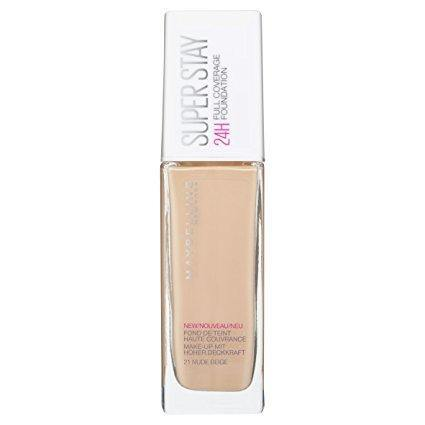 Maybelline Superstay 24H Full Coverage Liquid Foundation - 21 Nude - zapple.pk