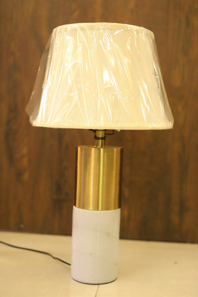 Modern Marble & Bronze Table Lamp - TL41 - zapple.pk