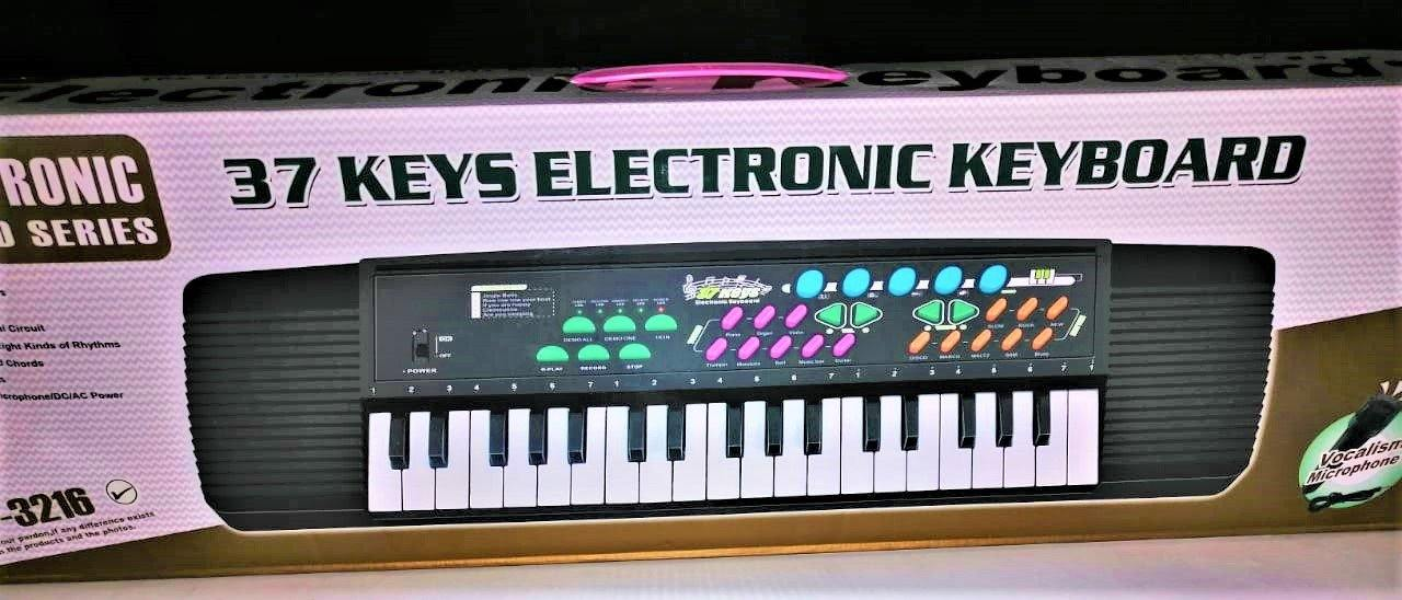 Electronic Keyboard Piano With Microphone and 37 Keys For Kids - zapple.pk