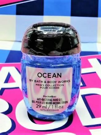 Bath & Body Works Ocean Men's Collection PocketBac Anti Bacterial Hand Gel Sanitizer - 29ml - zapple.pk