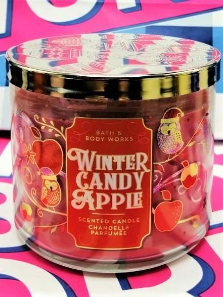 Bath & Body Works Winter Candy Apple Scented Candle Chandelle Perfume - 411g - zapple.pk