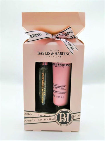 Baylis & Harding Jojoba, Vanilla & Almond Oil 2 Piece Cracker Gift set - zapple.pk