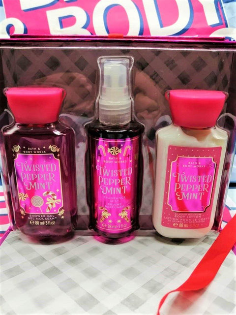Bath & Body Works Mini Gift Box Set - Twisted Peppermint