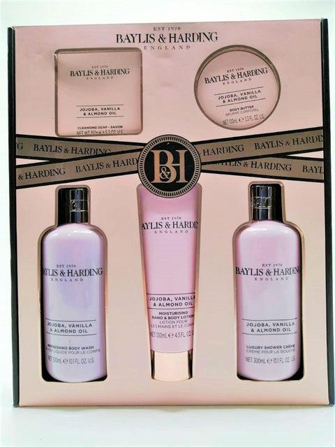 Baylis & Harding Jojoba, Vanilla & Almond Oil Gift Set Collection - 5pc