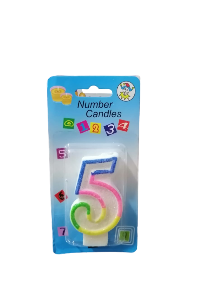 Birthday Numbering 0-9 Candles ( Pack of 9 ) - zapple.pk