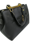 Luxury PU Leather Women Handbag Shoulder Bag - Black - zapple.pk