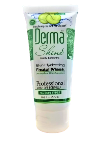 Derma Shine Skin Hydrating Facial Mask Cucumber Extracts 50ml ( ALL Skin Types )
