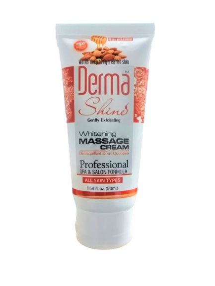 Derma Shine Whitening Massage Cream 50ml ( ALL Skin Types ) - zapple.pk