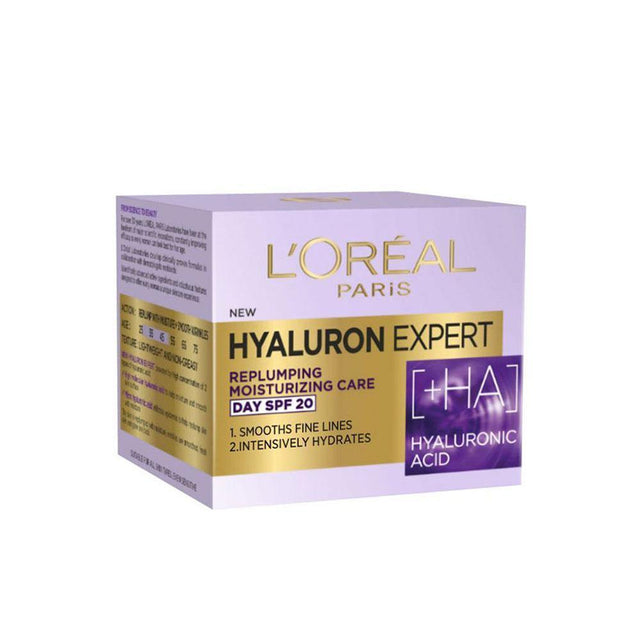 L'Oreal Paris Hyaluron Expert Replumping Moisturizing Day Cream SPF20 50ml - zapple.pk