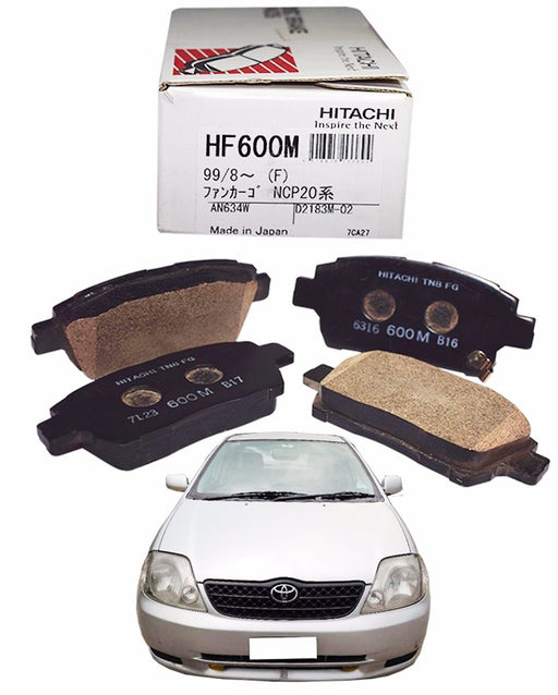 Toyota Assista 2003 to 2008 - Disc Brake Pads Front