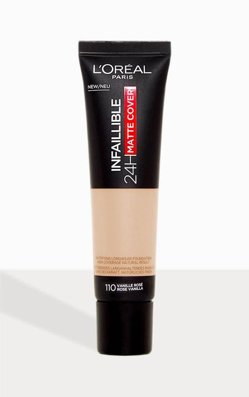 L'ORÉAL Paris Infallible 24H Matte Cover Foundation 110 Rose Vanilla - zapple.pk
