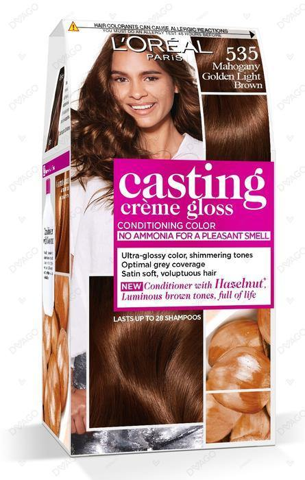L'ORÉAL Paris Casting Creme Gloss 535 Mahogany Golden Light Brown - zapple.pk