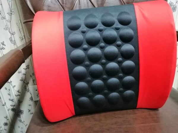 Car Back Seat Massager With Vibrator - RED&BLACK - zapple.pk