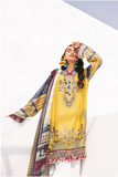 Fuchsia Lawn Embroidered Sosny ( Baroque ) - zapple.pk