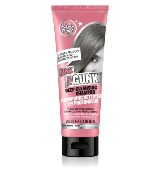 Soap & Glory Junk The Gunk Deep Cleansing Shampoo For All Hair Types - 250ml - zapple.pk
