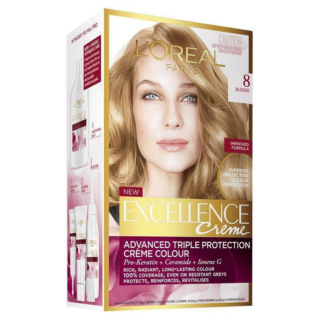 L'ORÉAL Paris Excellence Creme 8 Light Blonde - zapple.pk