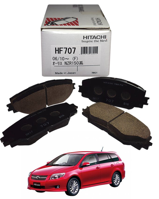 Toyota Fielder 2006 to 2012 - Disc Brake Pads Front - zapple.pk