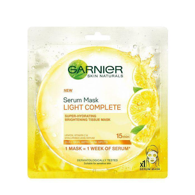 Garnier Skin Active Tissue Face Mask Light Complete - Hydrating Serum - zapple.pk