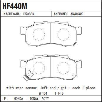 Honda Spark/Today/Acty Disc Brake Pads Front Set - zapple.pk