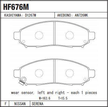 Nissan Serena Disc Brake Pads Front Set - zapple.pk