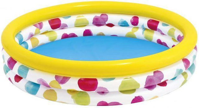 INTEX-3-Ring Baby Pool Large-Sunset Glow - zapple.pk