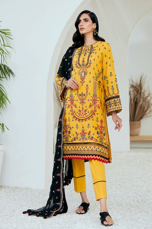 Jazmin Tale of Threads Festive Embroidered Lawn Collection - Khelash - zapple.pk