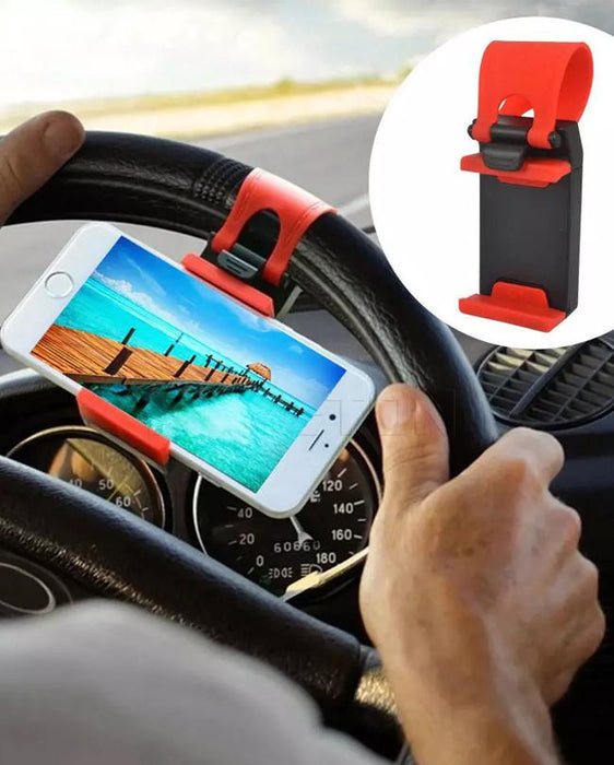 Pack of 2 Car Steering Wheel Mobile Holder Multicolor
