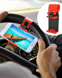 Pack of 2 Car Steering Wheel Mobile Holder Multicolor - zapple.pk