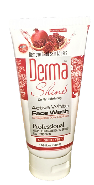 Derma Shine Active White Facewash 50ml ( ALL Skin Types ) - zapple.pk