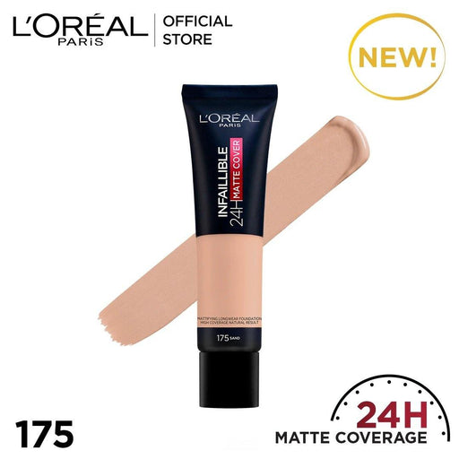 L'ORÉAL Paris Infallible 24H Matte Cover Foundation 175 Sand - zapple.pk