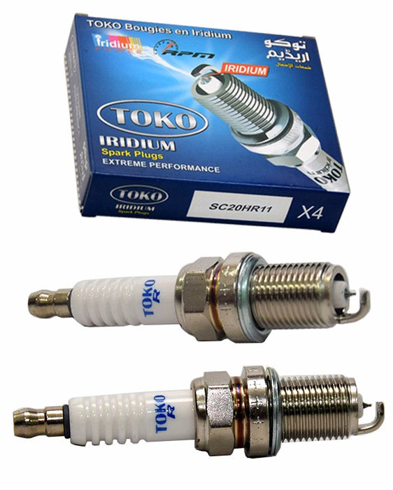 Pack of 4 - Zapple iridium High Performance Spark Plugs For Corolla 2009 to 2014 1600cc