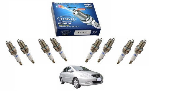 Pack of 8 - Zapple iridium High Performance Spark Plugs For Honda City 2003 to 2007 - zapple.pk