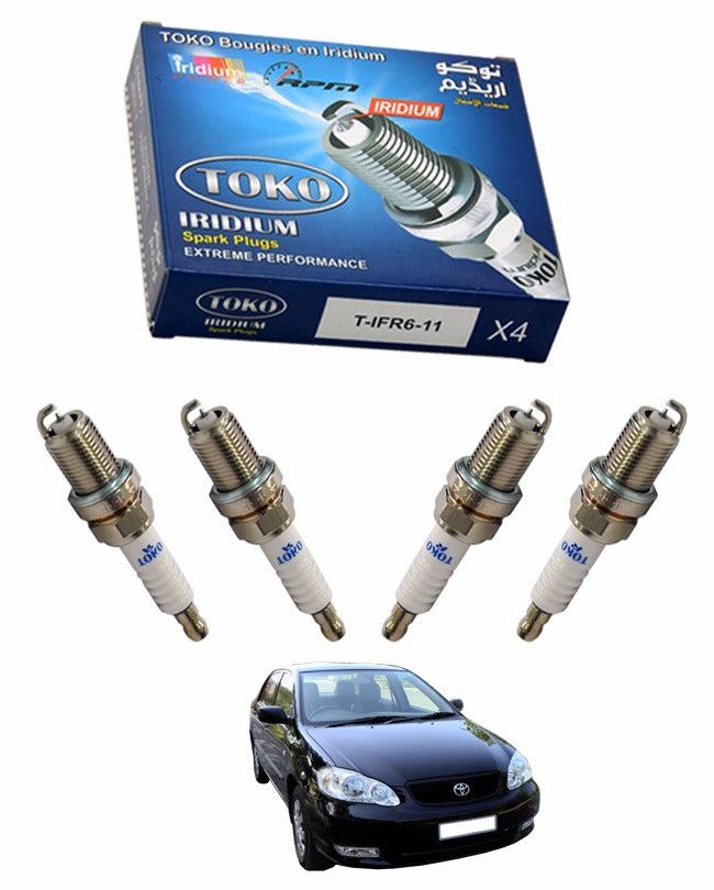 Pack of 4 - Zapple iridium High Performance Spark Plugs For Corolla 2009 to 2014 1300cc - zapple.pk