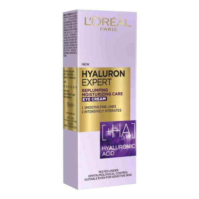 L'Oreal Paris Hyaluron Expert Replumping Moisturizing Eye Cream 15ml - zapple.pk