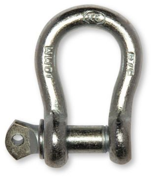"646001-25PK 1/4"" ICC Commercial Shackle 25 Pack"