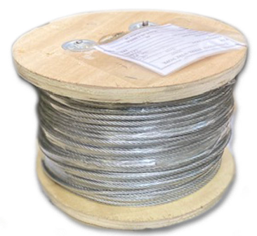 "3/8"" x 500' Aircraft Galvanized Wire Rope"