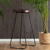 Rombass Bar Stool - Walnut Top