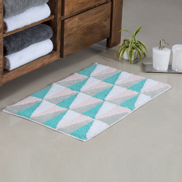 Morzine Triangles Bath Mat